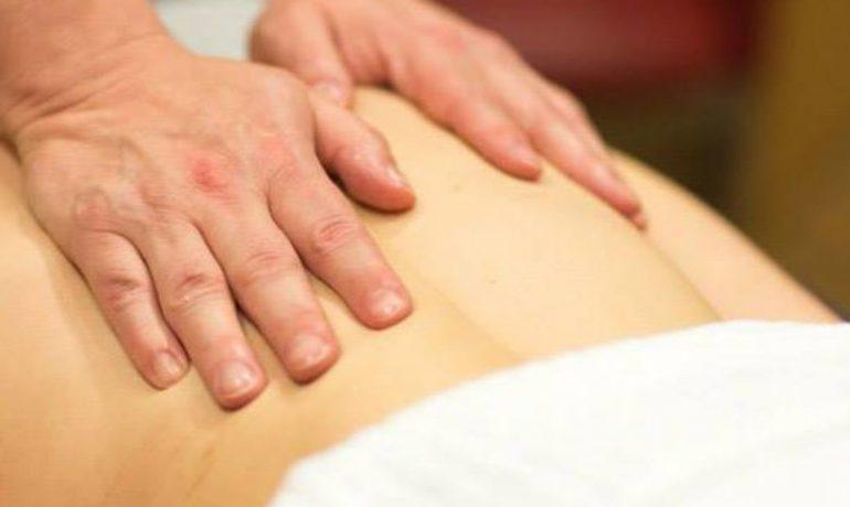 sports therapy back massage