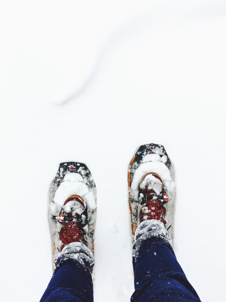 snow shoes hiking